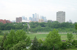 Downtown Minneapolis skyline